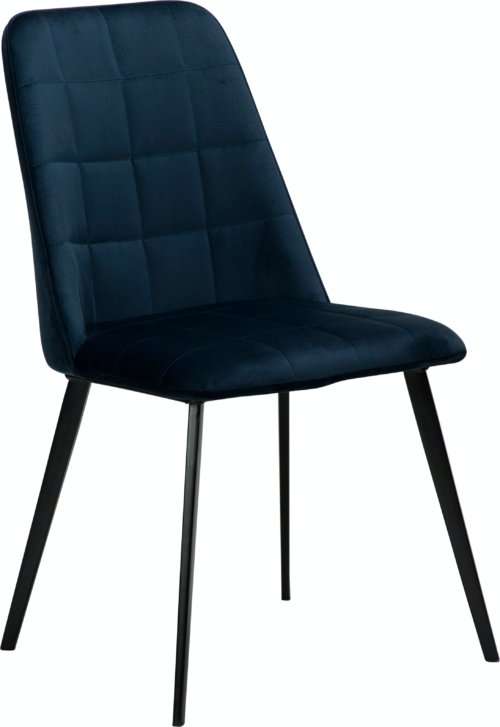 På billedet ser du variationen Embrace, Spisebordsstol, Fløjl fra brandet DAN-FORM Denmark i en størrelse H: 84 cm. B: 48 cm. L: 55 cm. i farven Blå