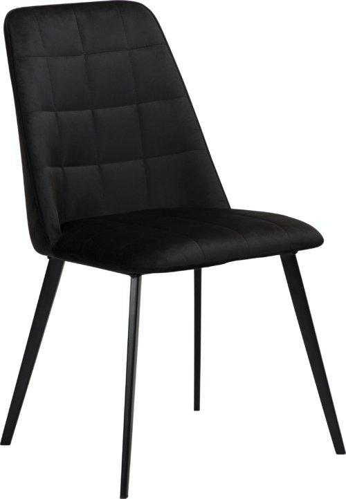 På billedet ser du variationen Embrace, Spisebordsstol, Fløjl fra brandet DAN-FORM Denmark i en størrelse H: 84 cm. B: 48 cm. L: 55 cm. i farven Sort