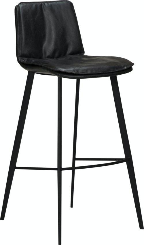 På billedet ser du variationen Fierce, Barstol, Kunstlæder fra brandet DAN-FORM Denmark i en størrelse H: 103 cm. B: 45 cm. L: 51 cm. i farven Sort