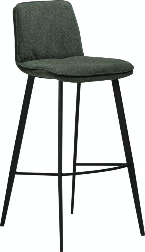 På billedet ser du variationen Fierce, Barstol, Stof fra brandet DAN-FORM Denmark i en størrelse H: 103 cm. B: 45 cm. L: 51 cm. i farven Grøn