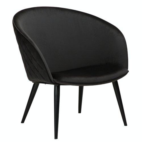 På billedet ser du variationen Dual, Loungestol fra brandet DAN-FORM Denmark i en størrelse H: 75 cm. B: 74 cm. L: 71 cm. i farven Sort