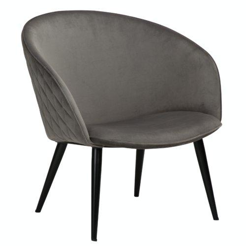 På billedet ser du variationen Dual, Loungestol fra brandet DAN-FORM Denmark i en størrelse H: 75 cm. B: 74 cm. L: 71 cm. i farven Grå
