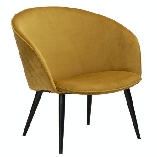 På billedet ser du variationen Dual, Loungestol fra brandet DAN-FORM Denmark i en størrelse H: 75 cm. B: 74 cm. L: 71 cm. i farven Gul/Okker
