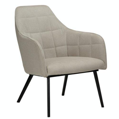 På billedet ser du variationen Embrace, Loungestol, Stof fra brandet DAN-FORM Denmark i en størrelse H: 83 cm. B: 68 cm. L: 77 cm. i farven Hvid/Beige