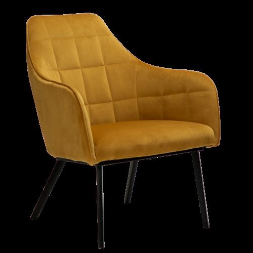 På billedet ser du variationen Embrace, Loungestol, Fløjl fra brandet DAN-FORM Denmark i en størrelse H: 83 cm. B: 68 cm. L: 77 cm. i farven Gul/Okker