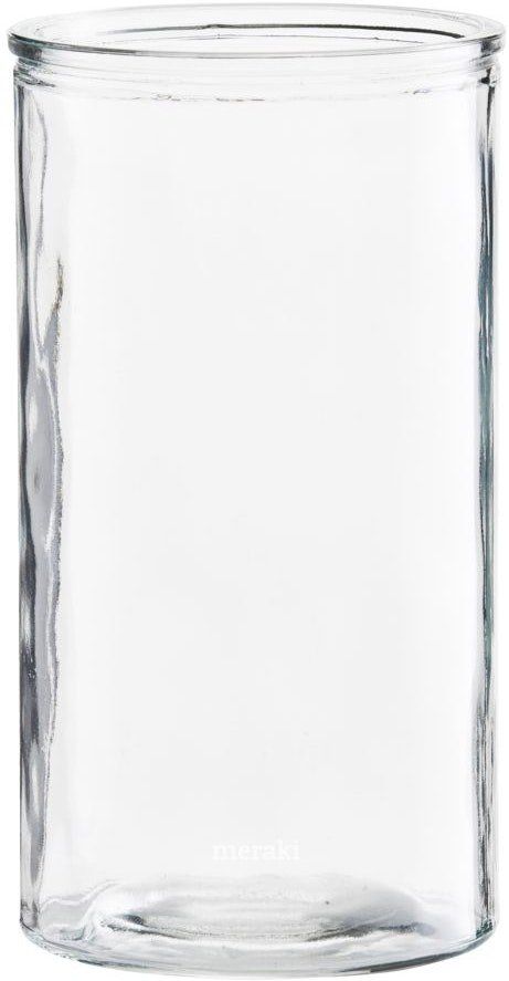 På billedet ser du variationen Cylinder, Vase, Merina fra brandet Meraki i en størrelse H: 24 cm. i farven Klar