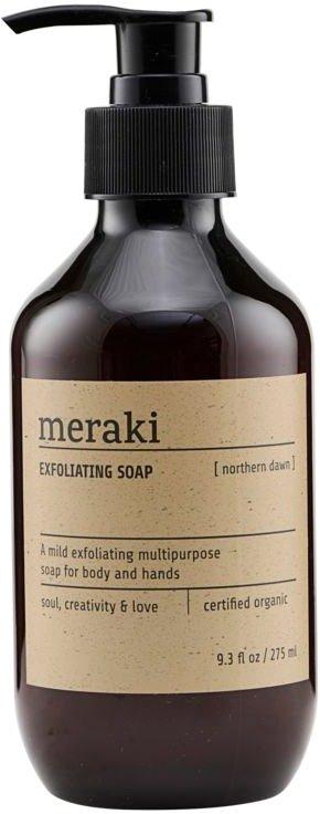 På billedet ser du variationen Exfoliating Soap, Northern dawn fra brandet Meraki i en størrelse 275 ML. i farven Sort