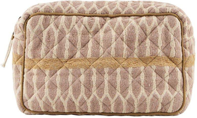 Makeup taske, Moddy by Meraki (H: 13 cm. B: 6,5 cm. L: 20,5 cm., Sennep/Terracotta/Sand)