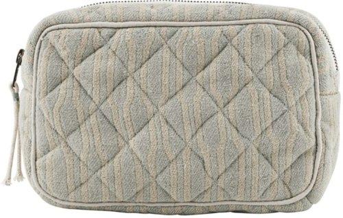 På billedet ser du variationen Makeup taske, Moddy fra brandet Meraki i en størrelse H: 13 cm. B: 6,5 cm. L: 20,5 cm. i farven Lysegrøn/beige