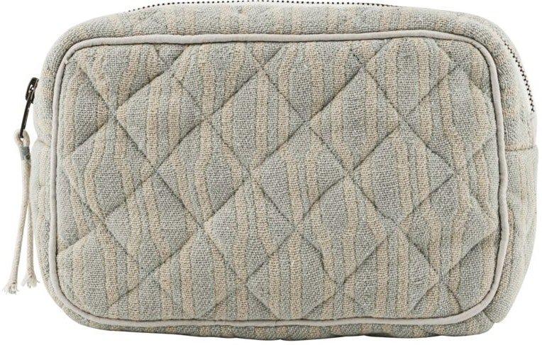 Makeup taske, Moddy by Meraki (H: 13 cm. B: 6,5 cm. L: 20,5 cm., Lysegrøn/beige)