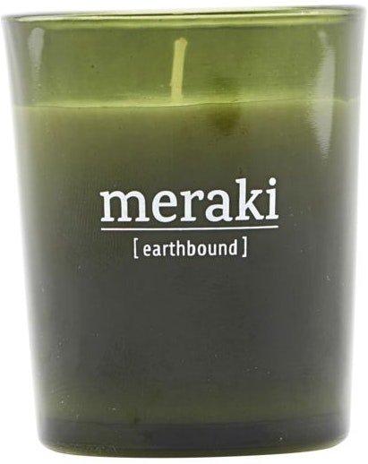 På billedet ser du variationen Duftlys, Earthbound fra brandet Meraki i en størrelse D: 5,5 cm. H: 6,7 cm. i farven Grøn
