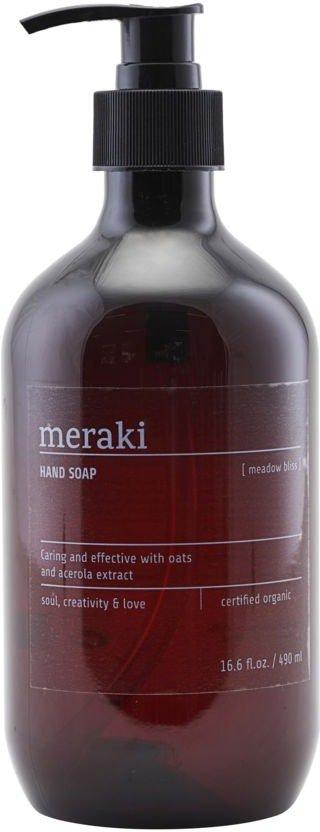 På billedet ser du variationen Håndsæbe, Meadow bliss fra brandet Meraki i en størrelse 490 ML. i farven Sort
