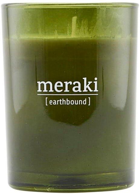 På billedet ser du variationen Duftlys, Earthbound fra brandet Meraki i en størrelse D: 8 cm. H: 10,5 cm. i farven Grøn