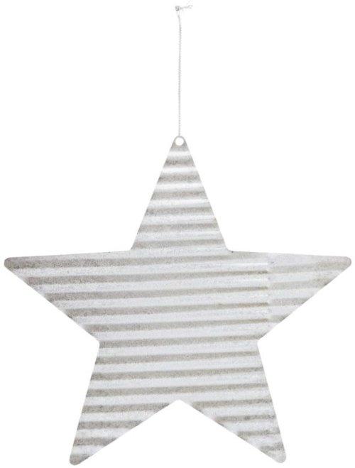 På billedet ser du variationen Julepynt, Tin plate star fra brandet House Doctor i en størrelse D: 20 cm. i farven Sølv