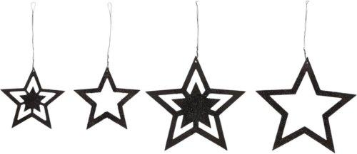 På billedet ser du variationen Julepynt, Stars fra brandet House Doctor i en størrelse D: 8 cm. i farven Sort