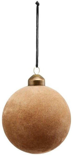 På billedet ser du variationen Julepynt, Flock fra brandet House Doctor i en størrelse D: 8 cm. i farven Lysebrun