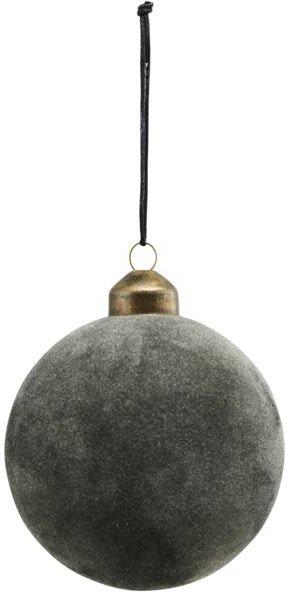 På billedet ser du variationen Julepynt, Flock fra brandet House Doctor i en størrelse D: 8 cm. i farven Mørkegrøn
