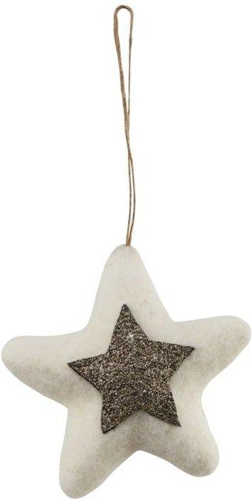 På billedet ser du variationen Julepynt, Star fra brandet House Doctor i en størrelse D: 10 cm. i farven Hvid/Guld
