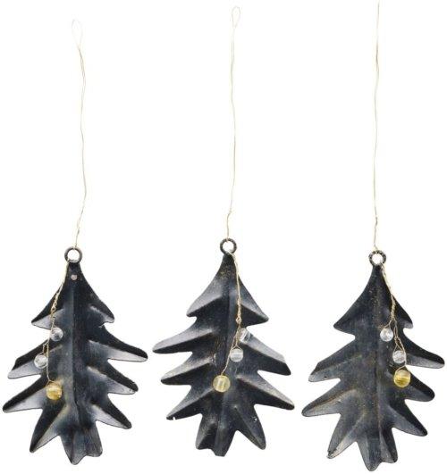 På billedet ser du variationen Julepynt, leaf and beads fra brandet House Doctor i en størrelse B: 6,5 cm. L: 9,8 cm. i farven Sort