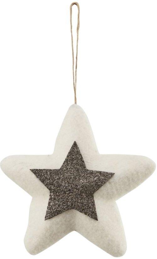 På billedet ser du variationen Julepynt, Star fra brandet House Doctor i en størrelse D: 14 cm. i farven Hvid/Guld