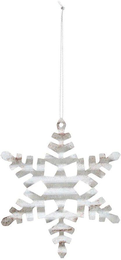På billedet ser du variationen Julepynt, Tin plate snowflake fra brandet House Doctor i en størrelse D: 11,7 cm. i farven Sølv