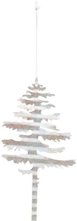 På billedet ser du variationen Julepynt, Tin plate tree fra brandet House Doctor i en størrelse D: 17,5 cm. i farven Sølv
