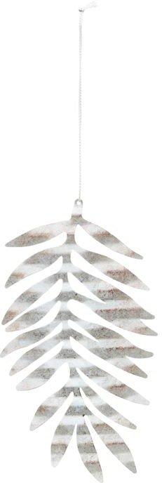 På billedet ser du variationen Julepynt, Tin plate leaf fra brandet House Doctor i en størrelse D: 15 cm. i farven Sølv