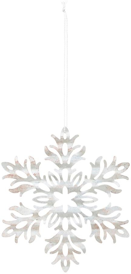 På billedet ser du variationen Julepynt, Tin plate snow flower fra brandet House Doctor i en størrelse D: 11,8 cm. i farven Sølv
