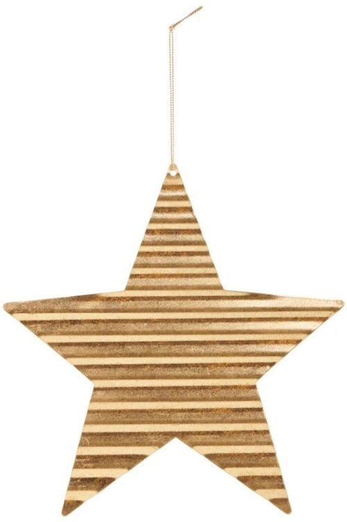 På billedet ser du variationen Julepynt, Tin plate star fra brandet House Doctor i en størrelse D: 20 cm. i farven Guld