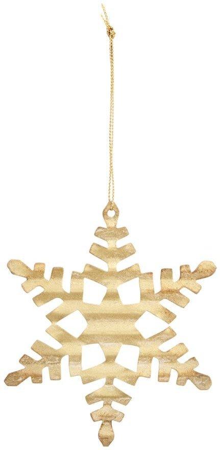 På billedet ser du variationen Julepynt, Tin plate snowflake fra brandet House Doctor i en størrelse D: 11,7 cm. i farven Guld