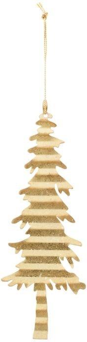 På billedet ser du variationen Julepynt, Tin plate tree fra brandet House Doctor i en størrelse D: 17,5 cm. i farven Guld