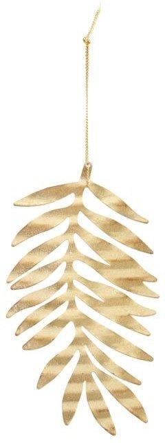 På billedet ser du variationen Julepynt, Tin plate leaf fra brandet House Doctor i en størrelse D: 15 cm. i farven Guld