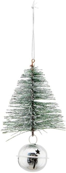 På billedet ser du variationen Julepynt, Tree & bell fra brandet House Doctor i en størrelse H: 8 cm. B: 8 cm. L: 13 cm. i farven Grøn