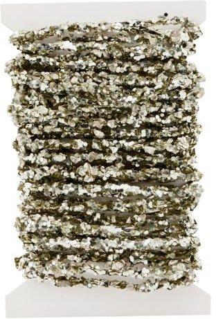 På billedet ser du variationen Glimmer og perle streng, Joy fra brandet House Doctor i en størrelse L: 500 cm. i farven Antik metallisk