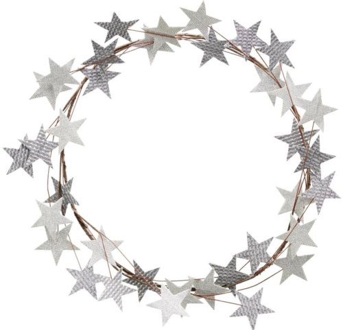 På billedet ser du variationen Krans, Star fra brandet House Doctor i en størrelse D: 50 cm. B: 3 cm. i farven Sølv