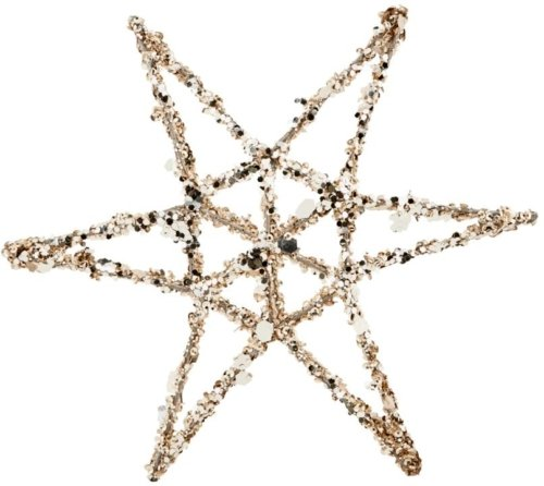 På billedet ser du variationen Julepynt, Star omni fra brandet House Doctor i en størrelse L: 20 cm. i farven Guld