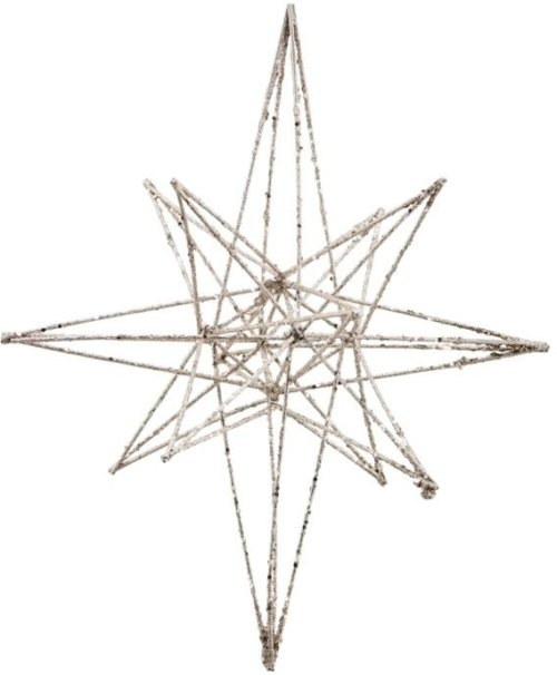 På billedet ser du variationen Julepynt, Star fra brandet House Doctor i en størrelse H: 35 cm. L: 21 cm. i farven Champagne
