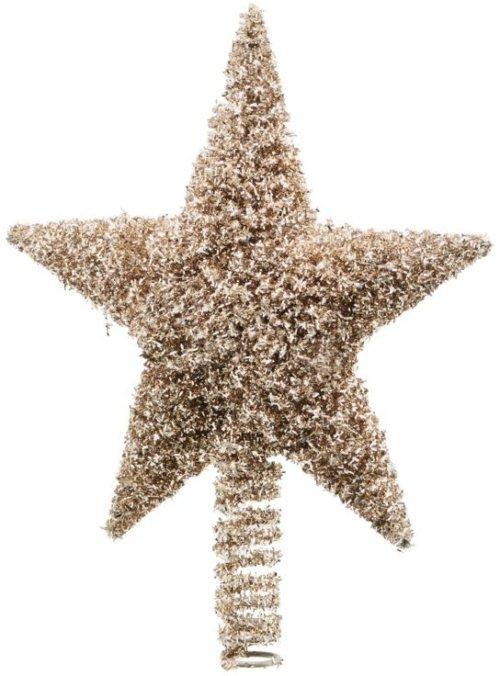 På billedet ser du variationen Juletræsstjerne, Joy fra brandet House Doctor i en størrelse L: 26 cm. i farven Guld
