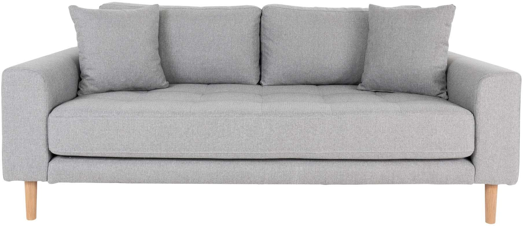Lido, 2,5-personers sofa, Stof by Nordby (H: 76 cm. B: 180 cm. L: 93 cm., Lysegrå)