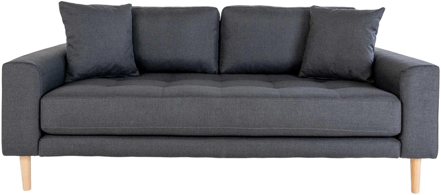 Lido, 2,5-personers sofa, Stof by Nordby (H: 76 cm. B: 180 cm. L: 93 cm., Mørkegrå)