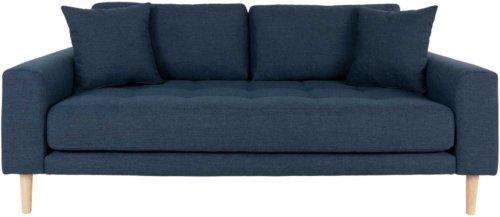 På billedet ser du variationen Lido, 2,5-personers sofa, Stof fra brandet Nordby i en størrelse H: 76 cm. B: 180 cm. L: 93 cm. i farven Mørkeblå