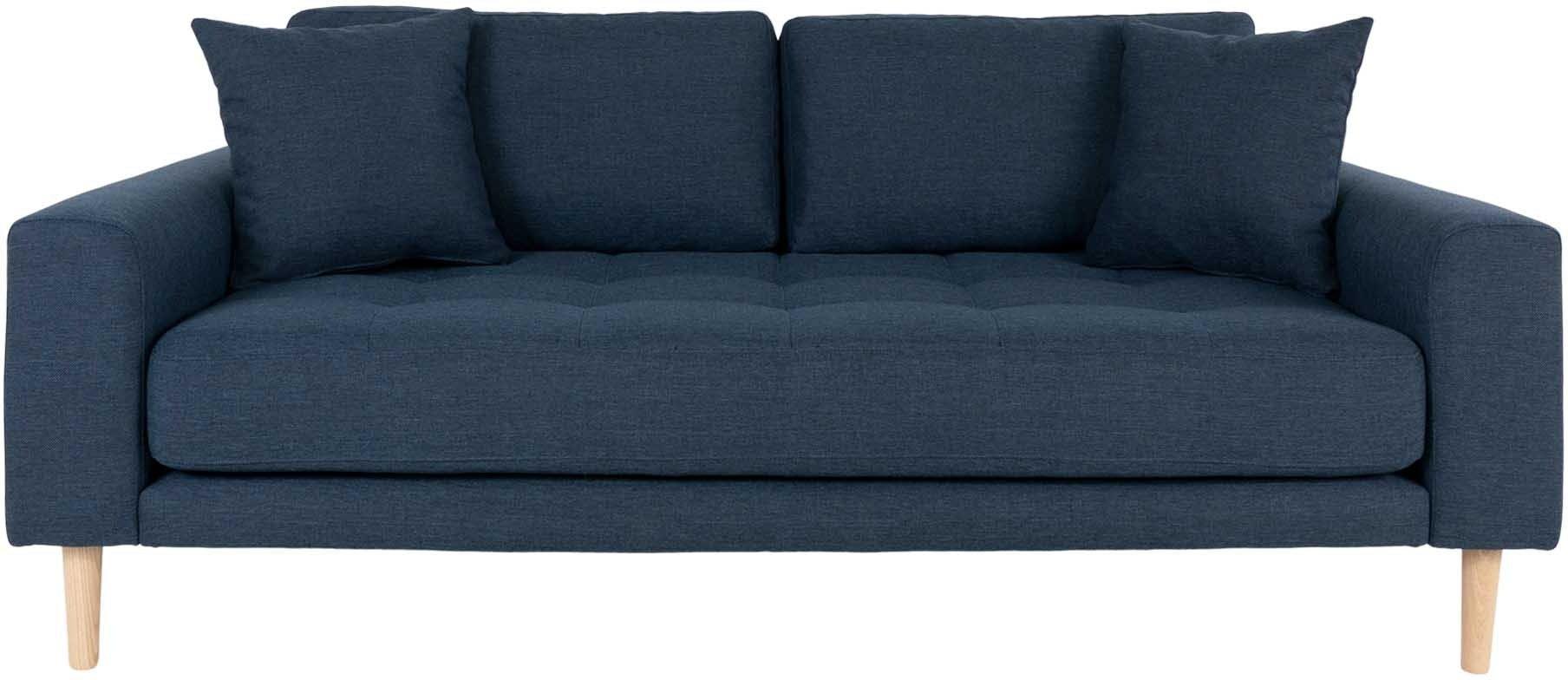 Lido, 2,5-personers sofa, Stof by Nordby (H: 76 cm. B: 180 cm. L: 93 cm., Mørkeblå)