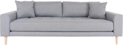 På billedet ser du variationen Lido, 3-personers sofa, Stof fra brandet Nordby i en størrelse H: 78 cm. B: 210 cm. L: 93 cm. i farven Lysegrå