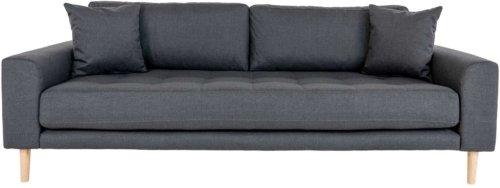 På billedet ser du variationen Lido, 3-personers sofa, Stof fra brandet Nordby i en størrelse H: 78 cm. B: 210 cm. L: 93 cm. i farven Mørkegrå