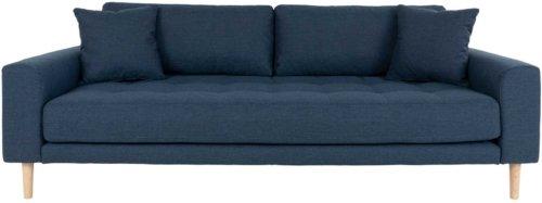 På billedet ser du variationen Lido, 3-personers sofa, Stof fra brandet Nordby i en størrelse H: 78 cm. B: 210 cm. L: 93 cm. i farven Mørkeblå