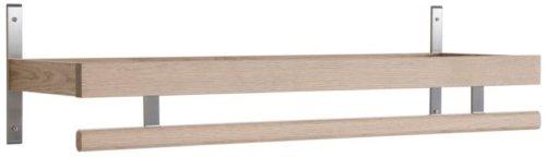 På billedet ser du variationen Nadja, Knagerække, Træ fra brandet Oscarssons Möbel i en størrelse L: 100 cm. i farven Hvidolieret egetræ
