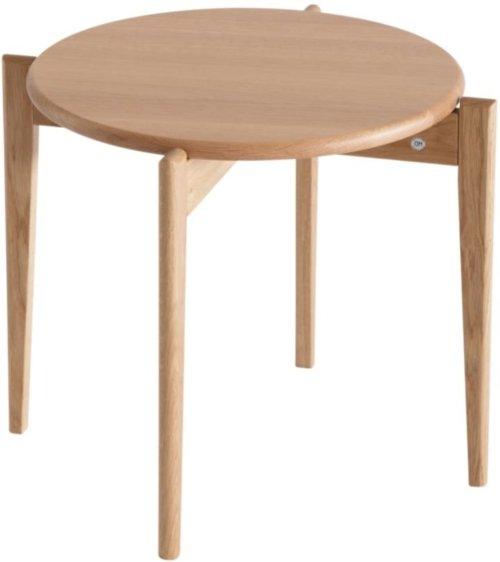 På billedet ser du variationen Tilia, Sofabord, Egetræ fra brandet Oscarssons Möbel i en størrelse H: 41 cm. B: 51 cm. L: 51 cm. i farven Lakeret egetræ