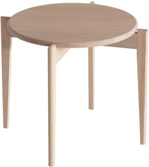 På billedet ser du variationen Tilia, Sofabord, Egetræ fra brandet Oscarssons Möbel i en størrelse H: 41 cm. B: 51 cm. L: 51 cm. i farven Hvidolieret egetræ