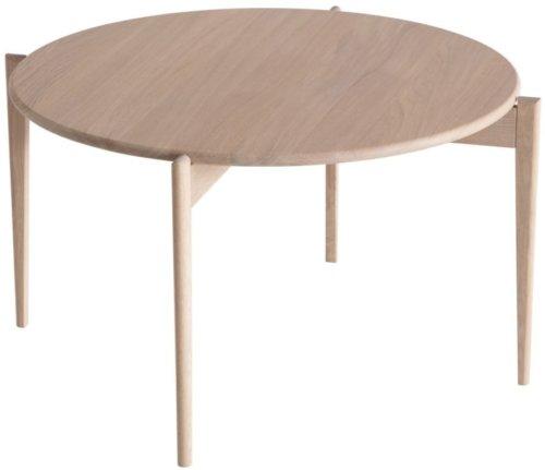 På billedet ser du variationen Tilia, Sofabord, Egetræ fra brandet Oscarssons Möbel i en størrelse H: 48 cm. B: 88 cm. L: 88 cm. i farven Hvidolieret egetræ