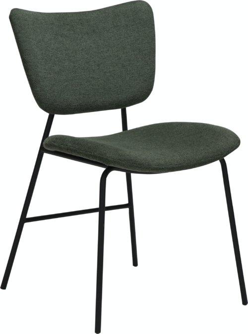 På billedet ser du variationen Thrill, Spisebordsstol, Stof fra brandet DAN-FORM Denmark i en størrelse H: 80 cm. B: 47 cm. L: 53 cm. i farven Grøn